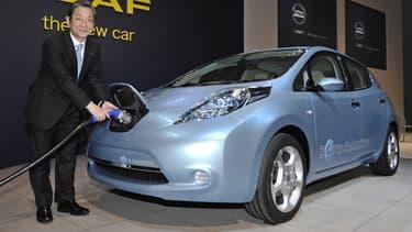 Nissan a décidé de se séparer de l'entreprise lui fournissant les batteries électriques de sa Leaf. (image d'illustration)