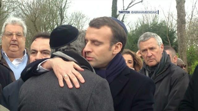 Emmanuel Macron aux obsèques de Mireille Knoll