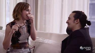 Emma Watson et Lin-Manuel pour la campagne HerForShe.