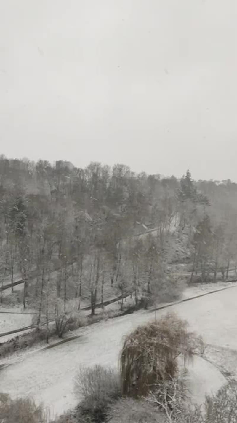 Il neige à Saint-Brieuc - Témoins BFMTV