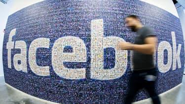 L'ancien logo de Facebook n'avait pas évolué depuis le lancement du site en 2005