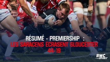 Résumé : Saracens - Gloucester (44-19) – Premiership