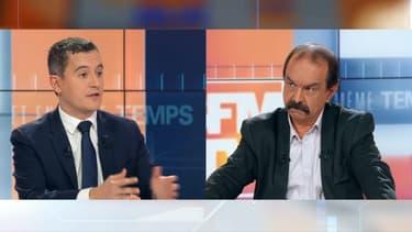 Gérald Darmanin et Philippe Martinez.
