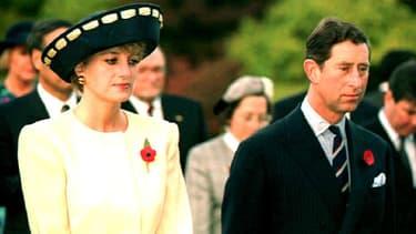 Lady Di et le prince Charles, en Corée du Sud en 1992