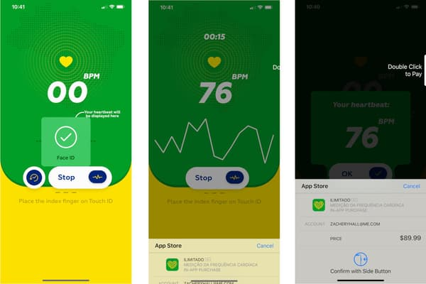 L'application Heart Rate