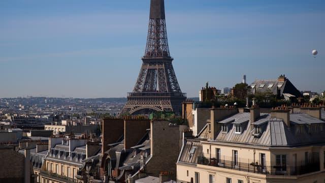 Photo de la Tour Eiffel le 7 mai 2020