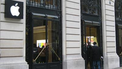 Le magasin Apple à Opéra, à Paris