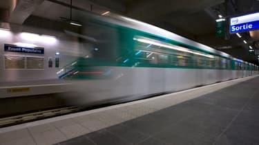Dans le métro à Paris. (photo d'illustration)