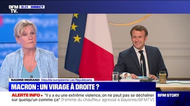"""Story 6 : """"Comme Emmanuel Macron n'a personne en vivier politique, il faut bien qu'il aille piocher chez nous"""", Nadine Morano - 07/07"""
