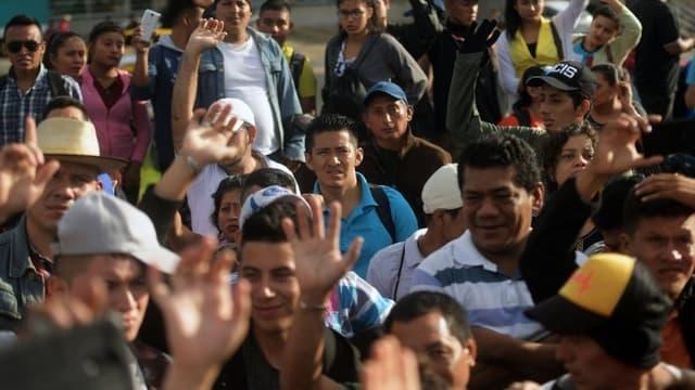 """La """"caravane"""" ne compte désormais plus que 4.000 personnes."""