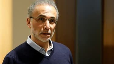 Tariq Ramadan arrive au Palais de justice à Paris le 13 février 2020.