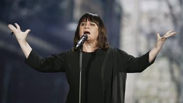 Lisa Angell, la candidate française à l'Eurovision, arrivée avant-dernière cette année.