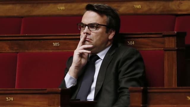 Thomas Thévenoud sur les bancs de l'Assemblée nationale en novembre 2014