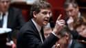 Arnaud Montebourg à l'Assemblée nationale, le 5 février 2013. Quelques semaines avant, le ministre du Redressement productif s'est vu désavoué à propos de la nationalisation de l'usine d'Arcelor Mittal, à Florange.
