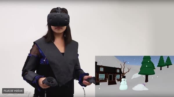 La veste a été pensée pour compléter l'expérience d'un casque de réalité virtuelle