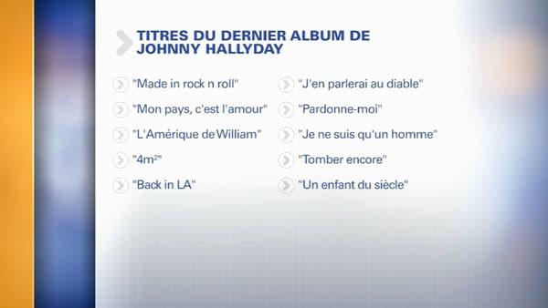Les 10 titres du futur album de Johnny Hallyday