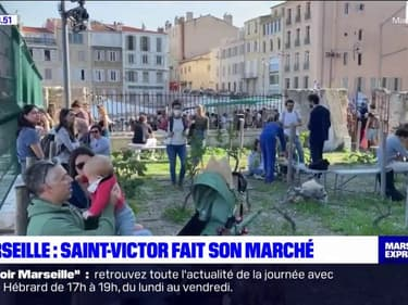 Marseille: un marché de produits locaux niché dans le quartier Saint-Victor