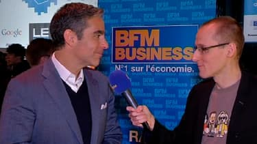 David Marcus, patron de Paypal, avec Anthony Morel au salon Le Web'13.