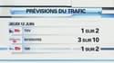Les prévisions du trafic du réseau SNCF pour la journée de jeudi
