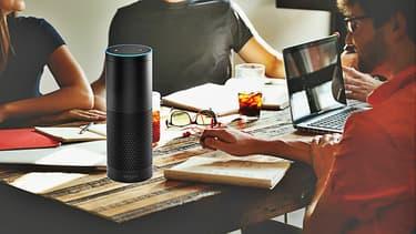 Après les salons, l'Amazon Echo pourrait bien conquérir les bureaux avec de nouvelles applications.