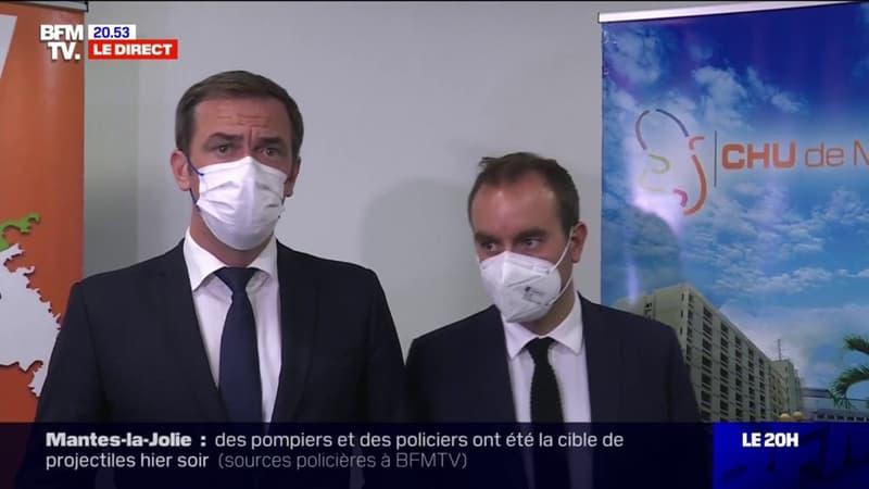 """Olivier Véran: """"La vague violente qui frappe les Antilles est la conséquence d'une vaccination trop faible sur le territoire"""""""