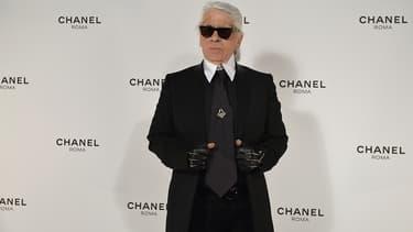 Karl Lagerfeld, directeur artistique de Chanel, en février 2015