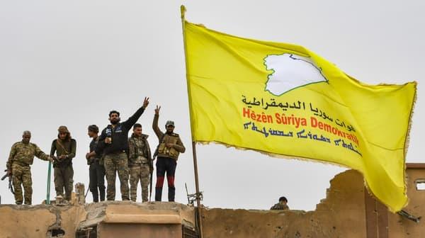 Les forces démocratiques syriennes annoncent avoir vaincu Daesh à Baghouz, le 23 mars 2019