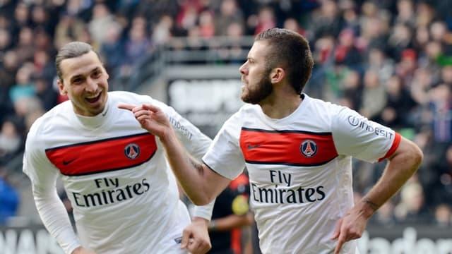 Jérémy Ménez et Zlatan Ibrahimovic