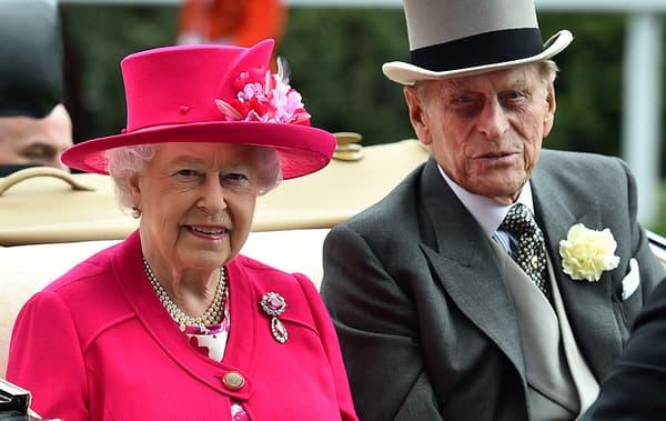 La reine Elizabeth II et son époux Philip, en juin 2015.
