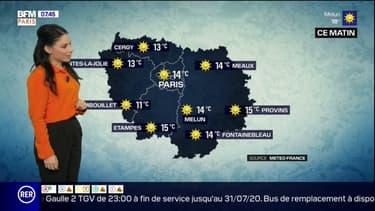 Météo en Île-de-France: un dimanche ensoleillé sur l'ensemble de la région, un maximum de 25°C attendu cet après-midi à Paris