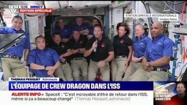 """""""Les choses ont beaucoup changé"""": les premiers mots de Thomas Pesquet pour son retour dans l'ISS"""