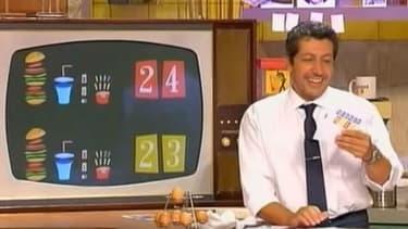 """Alain Chabat dans le jeu """"Burger Quiz"""""""