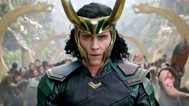 Tom Hiddleston dans le rôle de Loki sur Disney+