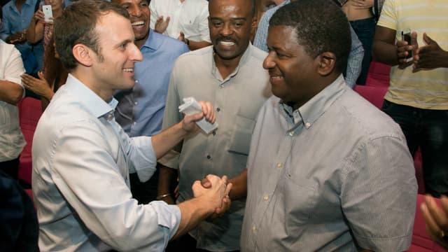 Emmanuel Macron en Guadeloupe
