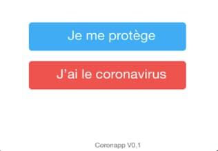 Les deux options d'inscription proposées par CoronApp.