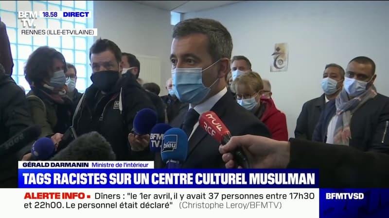 """Gérald Darmanin: """"Les actes anti-musulmans, ce sont des actes contre la République"""""""