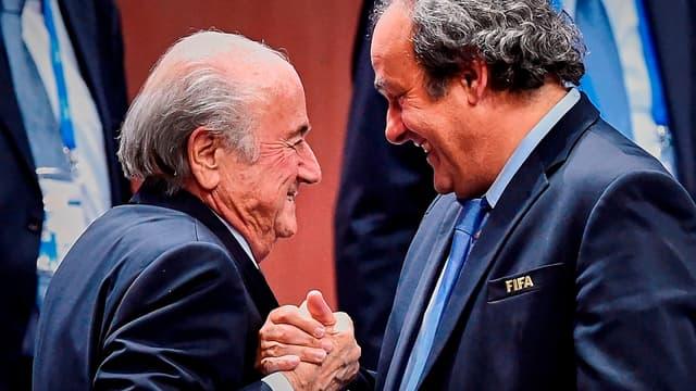 Sepp Blatter et Michel Platini