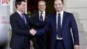 La photo symbolique entre Benoît Hamon et Manuel Valls, dimanche soir