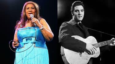 Aretha Franklin et Elvis Presley