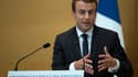 Emmanuel Macron pendant son discours lors de la conférence des territoires