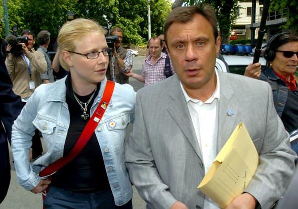 Laetitia Delhez et Jean-Denis Lejeune, en 2004 à Arlon (Belgique).