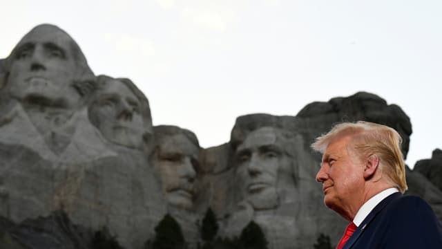 Donald Trump au Mont Rushmore pour les célébrations du 4 juillet 2020