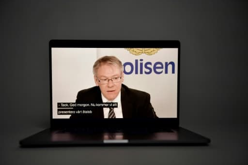 Le procureur  Krister Petersson lors d'une visio conférence à Stockholm, le 10 juin 2020