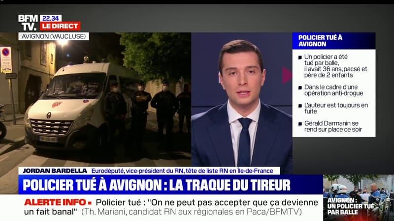 """Jordan Bardella: """"Aujourd'hui dans notre pays, les policiers sont devenus des cibles"""""""