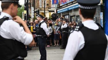 Des officiers de police britanniques. (Photo d'illustration)