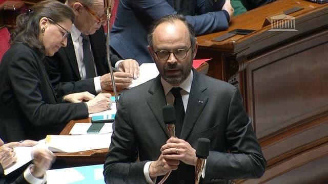 Edouard Philippe à l'Assemblée nationale le 28 mars.