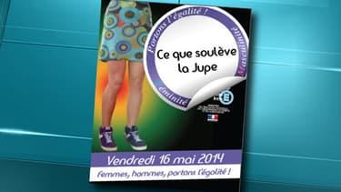 """L'affiche officielle de la journée """"Ce que soulève la jupe"""", organisée le 16 mai dans les lycées de l'académie de Nantes."""