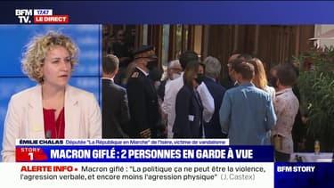 """Macron giflé: pour Émilie Chalas (LaREM), """"c'est un moment qui restera dans les mémoires"""""""
