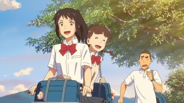 """Les personnages du film d'animation japonais """"Your Name""""."""