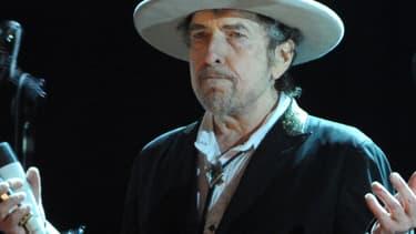 Bob Dylan en concert en France au festival des Vieilles charrues en 2012.